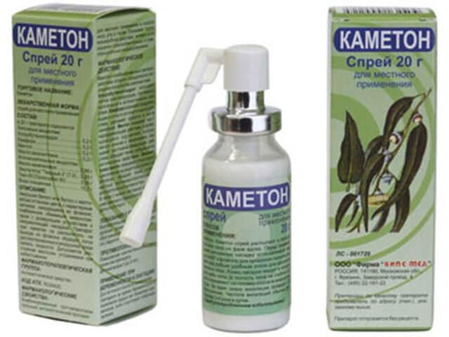 Каметон спрей и аэрозоль: принцип действия, показания и противопоказания к использованию спрея от кашля